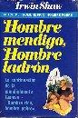 Portada HOMBRE MENDIGO HOMBRE LADRON - IRWIN SHAW - PLAZA Y JANES