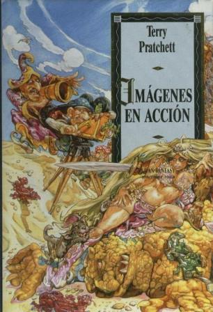 Portada IMAGENES EN ACCION - TERRY PRATCHETT - MARTINEZ ROCA