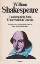 Portada LA DOMA DE LA FURIA  EL MERCADER DE VENECIA - WILLIAM SHAKESPEARE - PLANETA