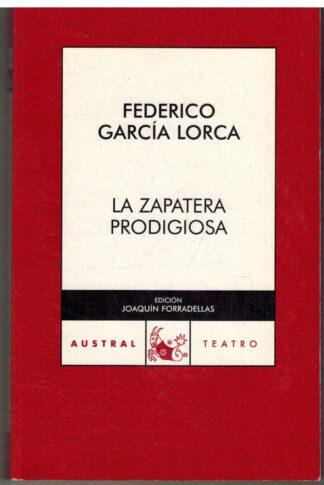 Portada LA ZAPATERA PRODIGIOSA - FEDERICO GARCIA LORCA - ESPASA CALPE
