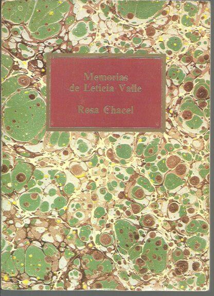 Portada MEMORIAS DE LETICIA VALLE - ROSA CHACEL - SAPE