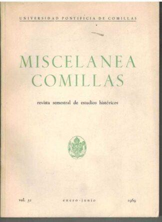 Portada MISCELANEA COMILLAS - VV.AA - UNIVERSIDAD PONTIFICA COMILLAS