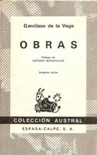 Portada OBRAS - GARCILASO DE LA VEGA - ESPASA CALPE