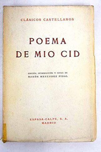 Portada POEMA DE MIO CID - ANONIMO - ESPASA CALPE