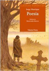 Portada POESIA - JORGE MANRIQUE / BIENVENIDO MORROS MESTRES - VICENS VIVES