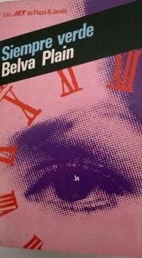 Portada SIEMPRE VERDE - BELVA PLAIN - PLAZA Y JANES