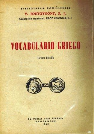 Portada VOCABULARIO GRIEGO - V FONTOYNONT S J  - SAL TERRAE