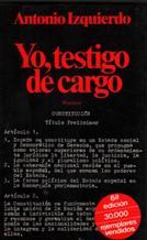 Portada YO TESTIGO DE CARGO - ANTONIO IZQUIERDO - PLANETA