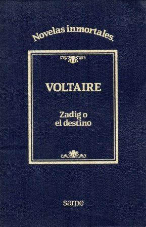 Portada ZADIG O EL DESTINO - VOLTAIRE - SARPE