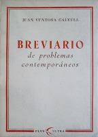 Portada BREVIARIO DE PROBLEMAS CONTEMPORANEOS - JUAN VENTOSA CALVELL - PLUS-ULTRA