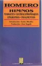 Portada HIMNOS  MARGITES  BATRACOMIOMAQUIA  EPIGRAMAS  FRAGMENTOS - HOMERO - EDICIONES B ZETA