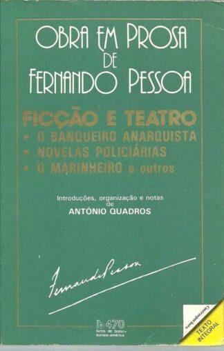 Portada OBRA EM PROSA FICCAO E TEATRO - FERNANDO PESSOA - PUBLICACIONES EUROPA AMERICA