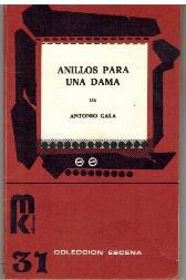 Portada ANILLOS PARA UNA DAMA - ANTONIO GALA - MK EDICIONES