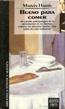 Portada BUENO PARA COMER - MARVIN HARRIS - ALIANZA / EDICIONES DEL PRADO