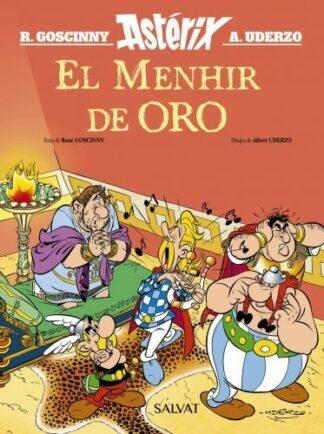 Portada EL MENHIR DE ORO - RENE GOSCINNY - SALVAT