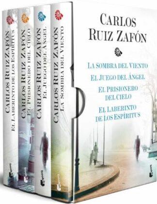 Portada ESTUCHE TETRALOGÍA LA SOMBRA DEL VIENTO - CARLOS RUIZ ZAFON - BOOKET