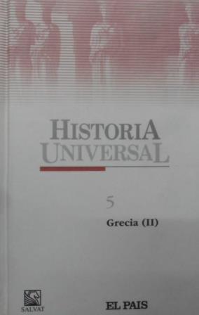 Portada HISTORIA UNIVERSAL: GRECIA II. TOMO 5 - VARIOS AUTORES - EL PAIS SALVAT