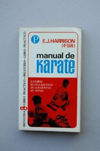 Portada MANUAL DE KARATE - E. J. HARRISON - BRUGUERA