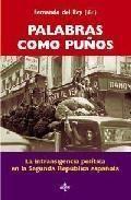 Portada PALABRAS COMO PUÑOS - REY, FERNANDO DEL / ÁLVAREZ CHILLIDA, GONZALO / ÁLVAREZ TARDÍO, MANUEL / GARCÍA FERNÁNDEZ, HUGO / GONZÁLEZ CALLEJA, EDUARDO / GONZÁLEZ CUEVAS, PEDRO C - TECNOS