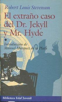 Portada EL EXTRAÑO CASO DE DR. JEKYLL Y MR. HYDE - ROBERT LOUIS STEVENSON - EDAF