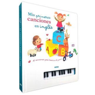 Portada LIBRO PIANO. MIS PRIMERAS CANCIONES EN INGLÉS - SEBASTIEN BRAUN - AUZOU