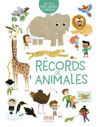 Portada RÉCORDS DE ANIMALES - ERELL GUÉGEN - EDELVIVES